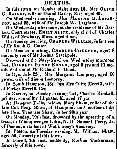 August 18 1846 New Hampshire Gazette Portsmouth New Hampshire Volume XCII Issue 33 Page 3