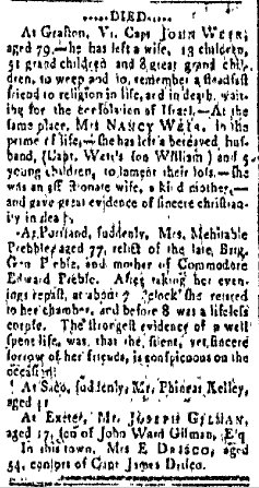 August 27 1805 New Hampshire Gazette Portsmouth New Hampshire Volume L Issue 38 Page 3