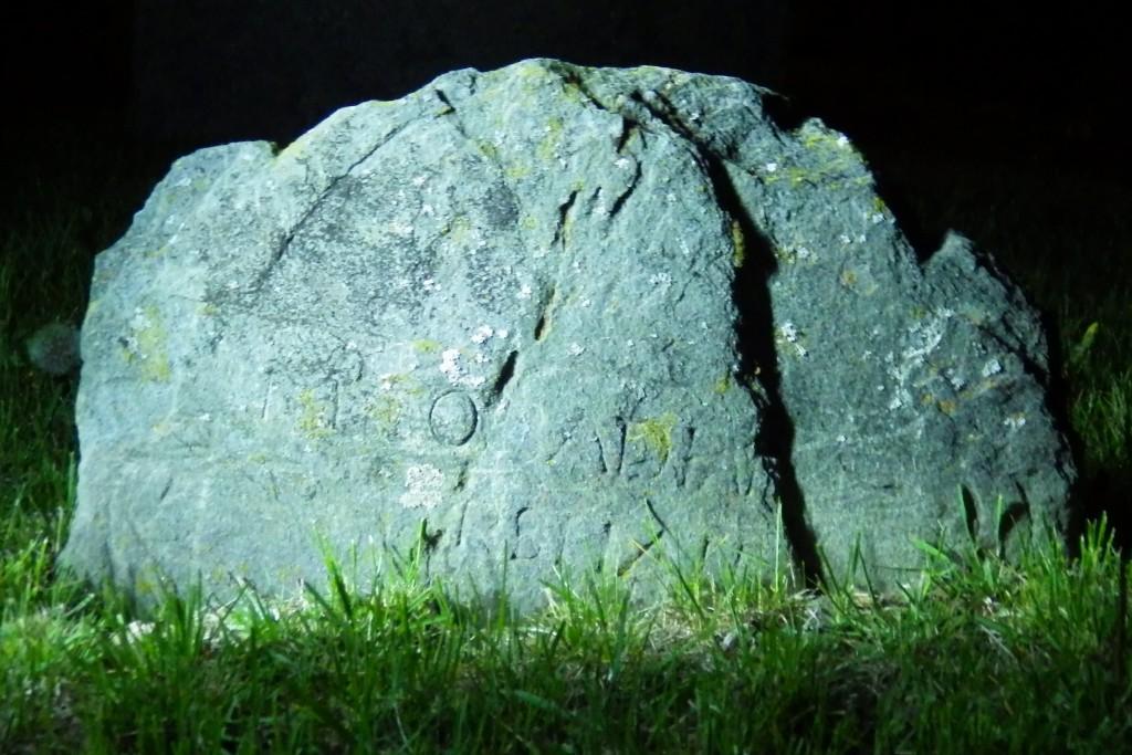 Obadiah Marshall footstone night shot 5-14-16
