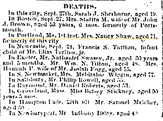October 5 1861 Portsmouth Journal of Literature and Politics Portsmouth New Hampshire Volume LXXII Issue 40 Page 3