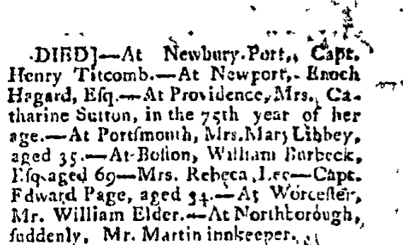 August 9 1785 Hampshire Herald Springfield Massachusetts Volume IV Issue 170 Page-3