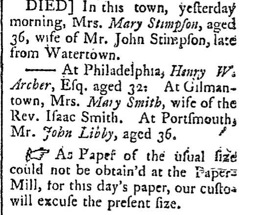 September 23 1788 New-Hampshire Recorder Keene New Hampshire Volume II Issue 3 Page 3
