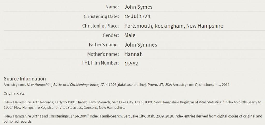 john Simes_christening