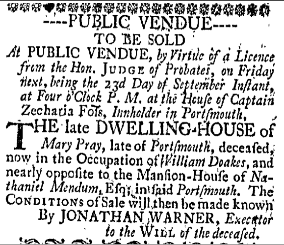 Friday September 16 1768 New-Hampshire Gazette Portsmouth New Hampshire Volume XII Issue 623 Page 3