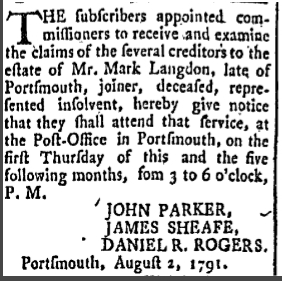 Thursday September 29 1791 New-Hampshire Gazette Portsmouth New Hampshire Volume XXXV Issue 1797