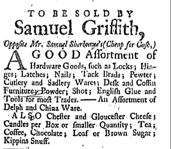 sg Friday January 13 1764 New-Hampshire Gazette Portsmouth New Hampshire Issue 380 Page 2