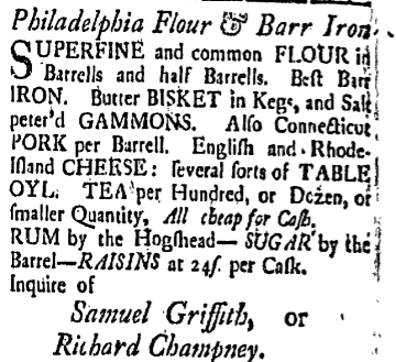 sg Friday January 29 1768 New-Hampshire Gazette Portsmouth New Hampshire Volume XII Issue 591 Page 4