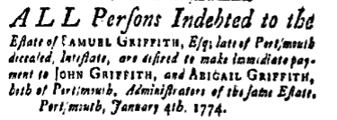 sg Friday January 7 1774 New-Hampshire Gazette Portsmouth New Hampshire Issue 898 Page 2