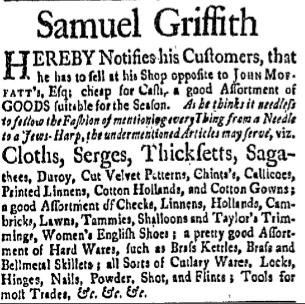 sg Friday July 18 1760 New-Hampshire Gazette Portsmouth New Hampshire Issue 198 Page 2