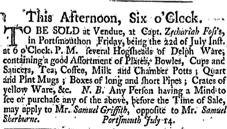 sg Friday July 22 1763 New-Hampshire Gazette Portsmouth New Hampshire Issue 355 Page 4
