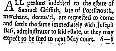 sg Saturday April 5 1777 Freemans Journal Portsmouth New Hampshire Volume I Issue 46 Page 3
