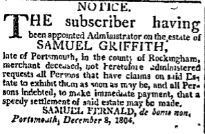 sg Saturday December 8 1804 Portsmouth Oracle Portsmouth New Hampshire Volume XVI Issue 11 Page 3