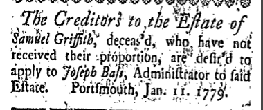 sg Tuesday January 26 1779 New-Hampshire Gazette Portsmouth New Hampshire Volume I Issue 49 Page 3