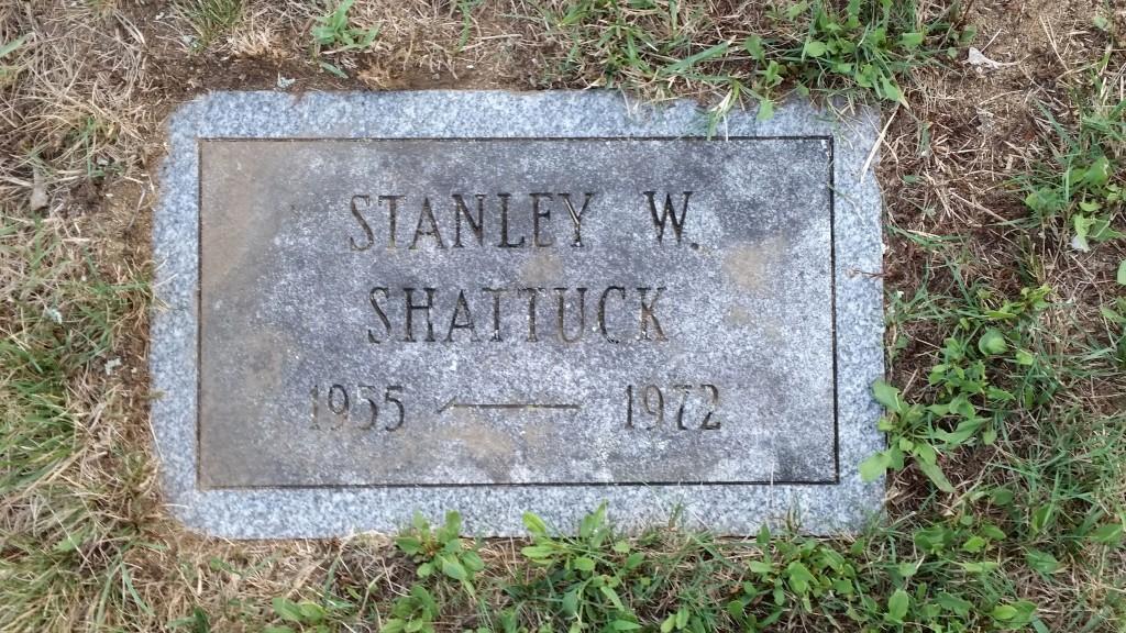 Stanley W Shattuck stone 7-26-16